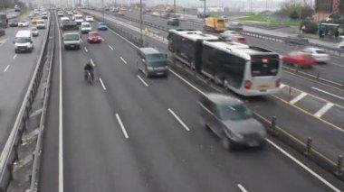 Trafic autoroute, time-lapse — Vidéo