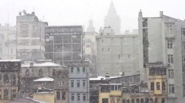 It's snowing in Istanbul — Stock Video