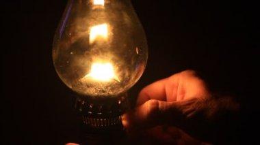 Hem belysning oljelampa — Stockvideo