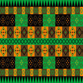 Green and brown ethnic carpet — Foto Stock