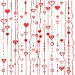 Love background with stylized hearts — Stock Photo