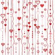 Love background with stylized hearts — Stock Photo #13229482