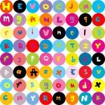 фон с буквами, бесшовные модели для детей — Стоковое фото
