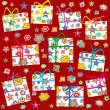 Stock Photo: Wrapping paper for Christmas