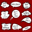 Stock Photo: Speech bubbles set with sale messages