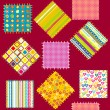 Background with set of colored patterns — Stock Photo