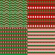 Set of Christmas backgrounds — Stock Photo