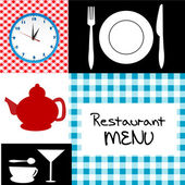 Retro restaurant menu — Stock Photo