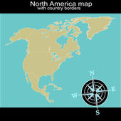 North America map with country borders — Stock Photo