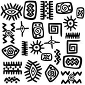 Background with African motifs over white background — Stock Photo