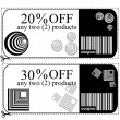 Voucher cards for shops — Stock Photo #16831389