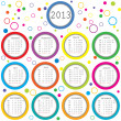 2013 calendar with circles for kids — Stock Photo