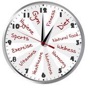 Konzeptionelle clock für ein gesundes leben — Stockfoto