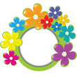 Spring floral frame with place for your text — Stock Photo