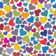 Stylized hearts background seamless pattern — Stock Photo #18689835