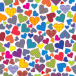 Stock Photo: Stylized hearts background seamless pattern