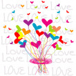 Background with a bouquet of hearts — Stock Photo