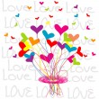 Stock Photo: Background with a bouquet of hearts