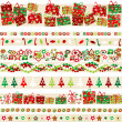 Background with Christmas theme and elements — Stock Photo