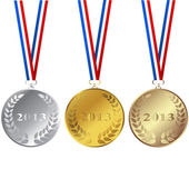 Set of 2013 medals — Stock Photo