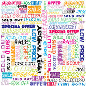Background with colored sales and sold announcements — Stock Photo