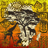 African symbols set — Stock Photo
