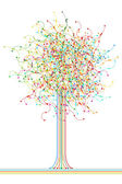 Colored abstract network tree — Stock Photo