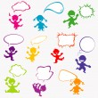 Background with doodle kids — Stock Photo