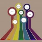 Retro rainbow infographics background — Stock Photo