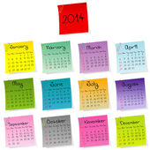2014 stickers calendar — Stock Photo