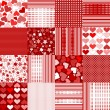 Set of Valentine's Day backgrounds — Stock Photo