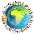 Stock Photo: Peace concept with planet Earth and