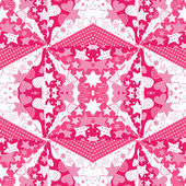 Pink background with hearts and stars — Stock fotografie