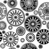 Oriental black and white pattern — Stock Photo