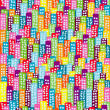 Doodle block of flats background, seamless pattern for kids — ストック写真