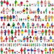 Background with people and children patternes in flags of World — Stock Photo #28426283