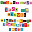 Back to school background with colored tellers and numbers — Stock Photo #29848261