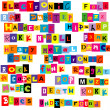 Music genres made of colorful letters — Stock Photo