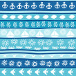 Background with marine motifs, wrapping paper — Stock Photo