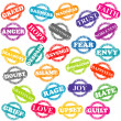 Foto de Stock  : Set of stamps with positive and negative emotions