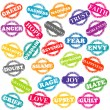 Set of stamps with positive and negative emotions — Stockfoto