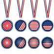 USA medals and buttons — Stockfoto