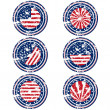 Rubber stamps with USA flag — Stock Photo #32844501
