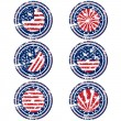 Rubber stamps with USA flag — Stock Photo