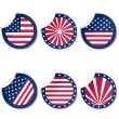 Round stickers with USA flag — Stock Photo