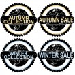 Autumn sale and winter sale rubber stamps — Stock Photo #32844607