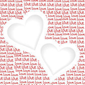 Love background with two hearts and place for text — Stock Photo