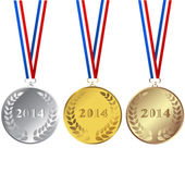 Set of 2014 medals — Stock Photo