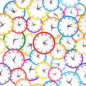 Seamless pattern with colorful clocks — Stockfoto