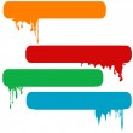 Set of splash color paint banners — Stock Photo #34498553